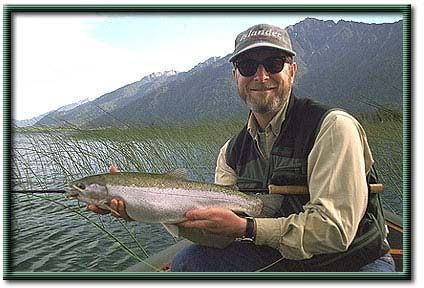 Rainbow trout - Lion's Bay on Lake Yelcho