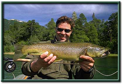 Brown trout fishing in the Patagonia region of Chile and Argentina with Justin