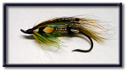 Grenn Highlander salmon fly